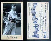 Cy Young 1934 Ackerly & Saniford  Reprint Mini MLB HOF