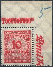 Korbdeckel MiNr. 318AP vom Plattenoberrand B aus Ecke 2 Typ 2 mit Plf. PE11