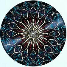 disc-mandala 23 / vinyl record mandala art handmade painting