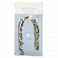 Decorative Arch 8 Foot White - Victoria Lynn Wedding Lights Lighted Party