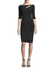 $795 LA PETITE ROBE di CHIARA BONI JOANDRA RUCHED DRESS SZ 44/8 NWT in BLACK