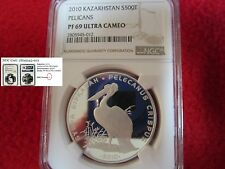 2010 KAZAKHSTAN SILVER DALMATIAN PELICAN PROOF NGC PCGS ICG ANACS africa PF69