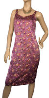 🌻 KALIKO SIZE 14 FLORAL SILK MIDI DRESS WITH SEQUINS DETAIL