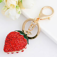 Strawberry Shape Metal Key Ring J Delicate Fashion Key Chain Women Gifts Cute