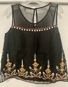 Anthropologie Floreat beaded blouse, size 4.