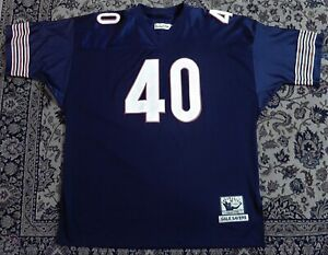 Gale Sayers # 40 Mitchell & Ness Size 60 / Throwback Jersey Stitched
