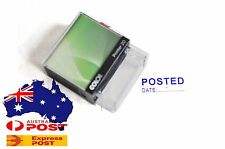 Brand New Post Posted Date Stamp - Self Inking Rubber Stamp Blue ink 37mm*15mm