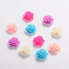 Bulk Flower Flatbacks Assorted Colors Resin Flower Cabochons 18mm Flat Backs 50