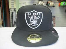 VTG New Era Oakland Raiders Fitted Hat Football NFL Vintage Size 7 3/4 Cap