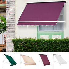 Window Awning Manual Retractable Outdoor Patio Canopy Sun Shade Shelter Drop Arm