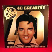 ELVIS PRESLEY 40 Greatest Hits 1975 DOUBLE VINYL LP best of EXCELLENT CONDITION