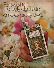 1971 Eve cigarettes farewell ugly woman finger nails vintage photo Print Ad adL9