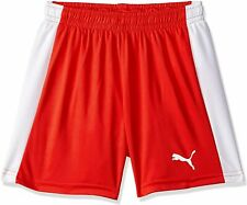 PUMA Kinder Hose Pitch Shorts with Innerbrief Red-White, 152