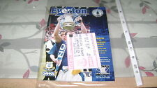 everton v stockport county 95/96 fa cup 3rd round programme+ticket stubb