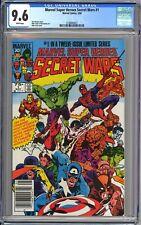MARVEL SUPER HEROES SECRET WARS #1 CGC 9.6 - WP - NM+ NEWSSTAND EDITION 1984