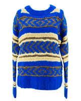 Scotch & Soda Nomadic Dreamers Women's Blue Long Sleeve Pullover Sweater Size 1