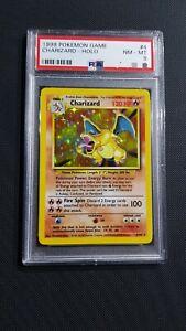 Charizard 04/102 PSA8 unlimited ENG set base Pokemon Card Near Mint  Perfetta
