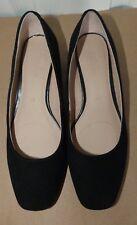 Ladies Black Suede m&s Footglove Pump SIZE 4.5 (37.5)