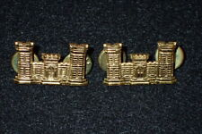WW2 US Army Corps of Engineers Officers BOS Collar Insignia PAIR Amcraft Orig.