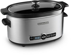 KitchenAid KSC6223SS 6Qt. Slow Cooker with Standard Lid  Stainless Steel