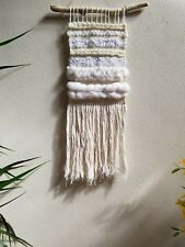 Woven Wall Hanging/Woven Wall Tapestry Weaving/White/Natural Wall Decor NEW