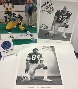 Lot Of 3 Green Bay Packers Autographed 8x10's Coa Mark Murphy NFL