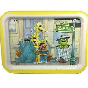 Sesame Street Vintage Metal TV Serving Tray Big Bird, Cookie Monster, Oscar