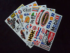Wholesale 5 Sheets Motor Sport Decals - Stickers Motorcycle Mechanic Toolbox @a