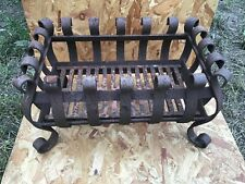 Wrought Iron Fire Basket Dog Grate Fireplace Fire Grate Fire Accessory vintage