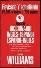 Diccionario español/inglés inglés/español: Bantam Williams, Edwin B. Mass Marke