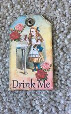 4 Mini Alicia en el país de las maravillas Etiquetas Vintage Bebida me Cumpleaños Tea Party Decorations
