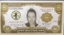 JOE STRUMMER (The CLASH) ONE MILLION ONE DOLLAR  novelty bank note