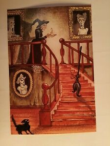 Vintage 🕸️ Witch 🧹 Sideshow Halloween Print Picture Collectable Art Photo 👻
