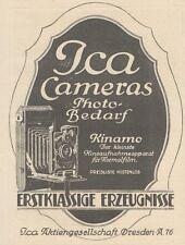 Y6184 ICA Cameras - Kinamo - Pubblicità d'epoca - 1925 Old advertising