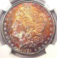 1881-S Toned Morgan Silver Dollar $1 - NGC MS64 - Nice Rainbow Toning!