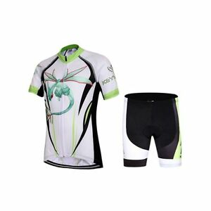 Children Dragonfly pattern Riding Summer Cycling Jersey &Short Bike Bicycle Suit
