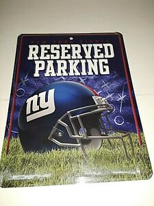 """New York Giants Reserved Parking Metal Sign 8.5"""" x 11"""""""