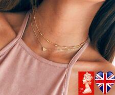 Gold Choker Necklace jewellery set Pendant Women's / Girl's Stocking gift idea