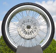 Chrome 21 x 3.5 60 Spoke Front Wheel 120/70 Tire Package 00-07 Harley Touring