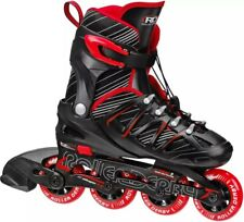 Rollerblade USA Microblade Boys Adjustable Inline Skates Size 12-2 Red YOUTH KID