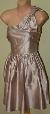 Womens Champagne Silk Betty Bow Dress BNWT - Forever New - Size 10