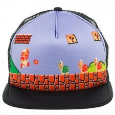 NEW Nintendo ~MARIO SNAPBACK HAT~ Men's Mesh Trucker Old School Era KOOPA TROOPA