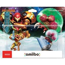 Nintendo - amiibo Figure 2-Pack 2pk (Samus Aran & Metroid) IN-HAND! SEALED! USA!
