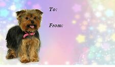Yorkshire Terrier / Yorkie Dog Self Adhesive Gift Labels by Starprint