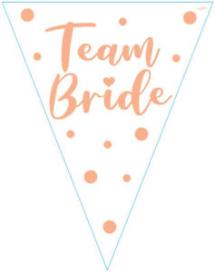 12.8ft Team Bride Bunting Flag Banner Hen Night Do Wedding Party Decorations