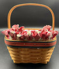 Longaberger 2001 All-American Collection Strawberry Basket w/ Liner, Protector