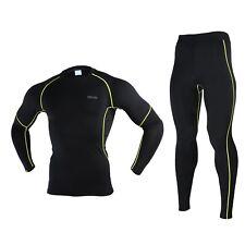 Invierno Hombres Capasbase térmica Camisas correr Ropa interior deportiva Trajes