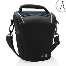 USA Gear Top Loading Digital SLR Camera Bag for Canon EOS Rebel Compact DSLR