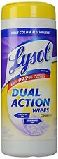2 Pack Lysol Dual Action Disinfectant Wipes Citrus Scent 35 Wipes Each