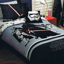 Star Wars The Force Quilt Cover Set Queen Bed